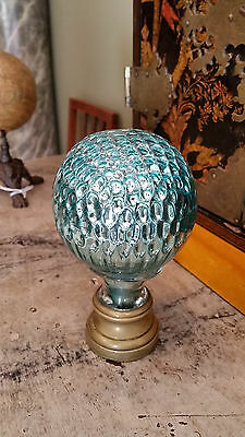 """Fine French Newel Post Finial or Boule d'escalier """"Honey comb"""""""