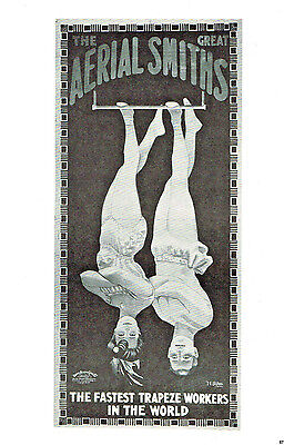 The Great Aerial Smiths, Ringling Bros Joan Of Arc Circus Poster Book Print 1974