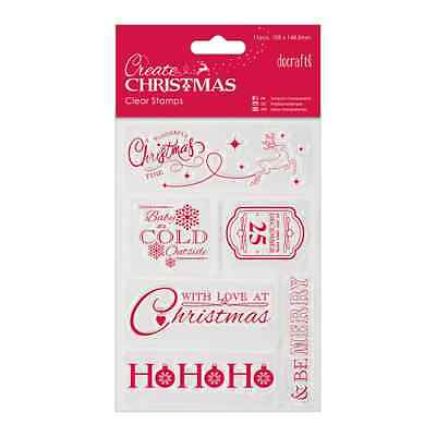 Papermania - Create Christmas Mini Clear Stamp - Christmas Sentiments