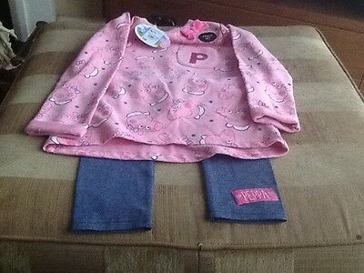 Peppa Pig Trousers And Top Set For Age 5-6 Years