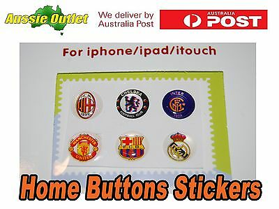 6x High Quality Button Sticker for iPhone iPad iPod Touch - Stock in Australia