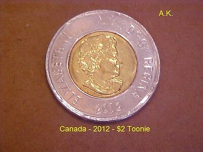 Canada - 2012 - $2 Toonie (Two) 2 Dollars   New Style