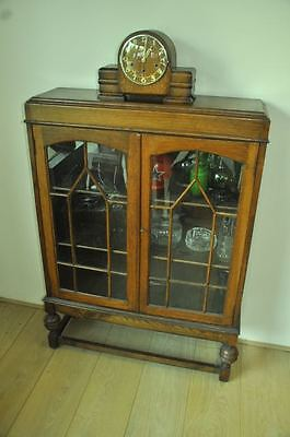 Arts and Crafts Display Cabinet Bookcase in Solid Oak