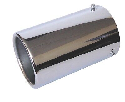 STAINLESS STEEL 42mm ROUND ROLLED CAR EXHAUST TAIL PIPE TRIM TIP RACING SPORTS