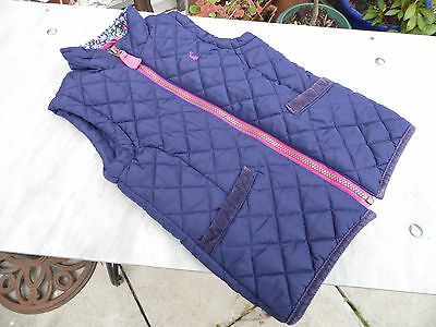 Joules Junior Gilet / Body Warmer Age 4 in Navy Blue