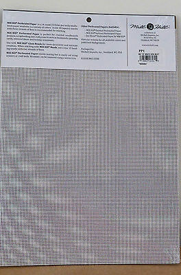 Mill Hill Perforated Paper White (2 sheets) 14 count