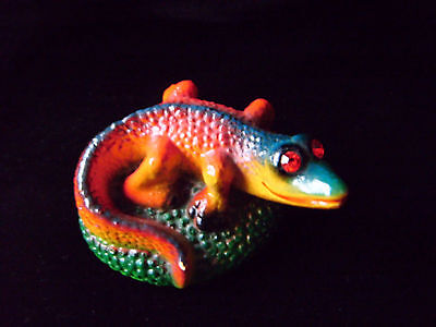 Cute retro style ceramic lizard ornament - Winkies by Ken Ward