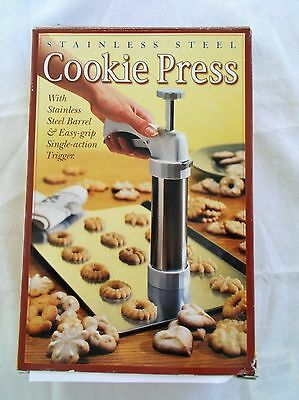 Williams Sonoma Stainless Steel Cookie Press 1999 Unused In Box