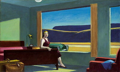 Edward Hopper Western Motel Giclee Canvas Print Paintings Poster Reproduction Co
