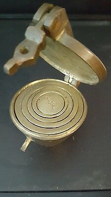 Vintage Brass Nesting weight set with clasp 6 piece set
