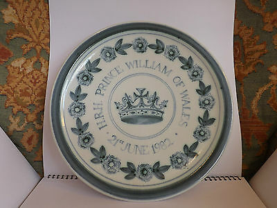 Rye Pottery Royal HRH Prince William of Wales 1982 Commemorative Plate