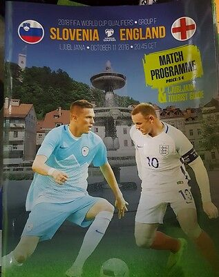 Slovenia v England 11.10.2016 Official Programme and Free Lions 11.10.2016