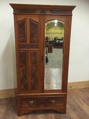 Arts And Crafts Wardrobe, Art Deco Wardrobe, Oak Wardrobe, Vintage Wardrobe