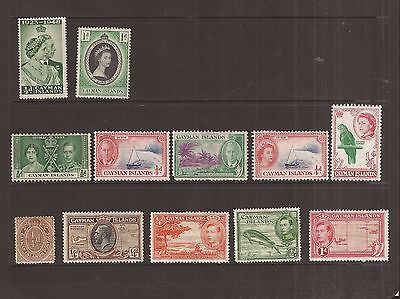 Cayman Islands  12  Stamps Mh
