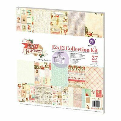 Prima Sweet Peppermint Collection Christmas 12 x 12 Collection Kit & Paper Pad