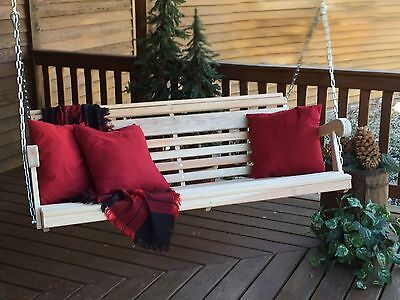 5' Grandpa Porch Swing / Cypress / Made by Amish Craftsmen from Holmescounty, OH