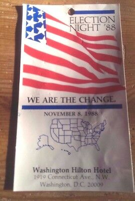 1988 Republican ELECTION NIGHT party ticket - President George Bush RNC GOP