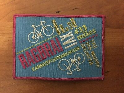 RAGBRAI 16th Patch 1988, Registers Annual Great Bicycle Ride across Iowa