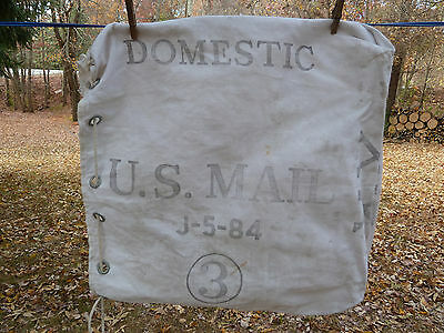 Vintage U.S. Domestic Mail #3 Mail Canvas Postal Bag J-5-84