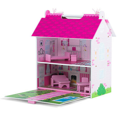 Hove Dolls House Preschool Toys Plum Pink Palace Children's Figurines Furniture