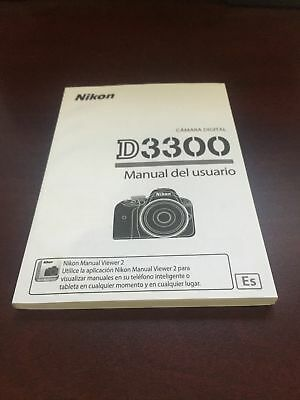 NIkon D3300 Manual del Usuario ESP Digital Camera User's Brand New. Never Used