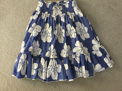 Mini Boden Cotton Floral Skirt. Aged 13-14 Years