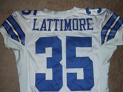 Keon Lattimore Cowboys Game Used Worn Jersey Steiner Ray Lewis Brother Terps