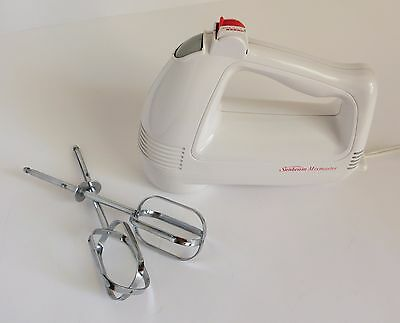 Sunbeam 6 Speed Mixmaster Hand Held Mixer White Model 2485