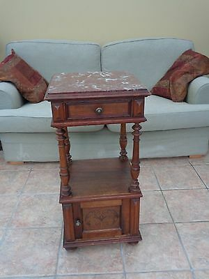 Gorgeous Antique French marble topped pot cupboard