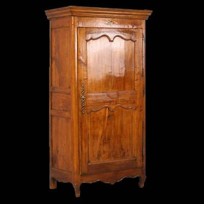 Antique French Cherrywood One Door Armoire, circa 1800-1840