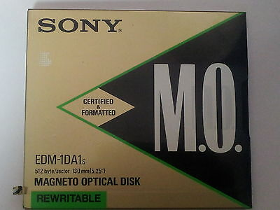 -NEW-Magneto Optical Disk Rewritable Sony MO EDM-1DA1s 512 byte/sector 5,25""