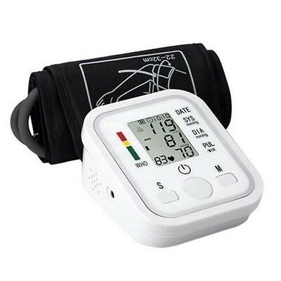 Sphygmomanometer Meter Portable Arm Blood Pressure Monitor with LCD Monito