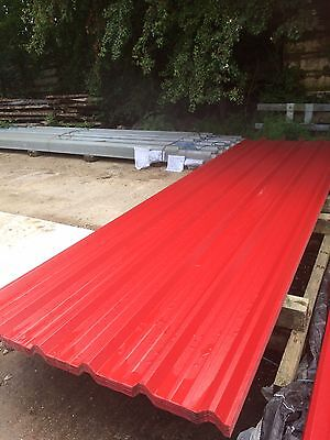 Metal Roof Sheets Plastic Coated (10 foot long)