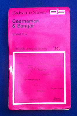 Ordnance Survey Map Of Caernarvon & Bangor 1974 Edition