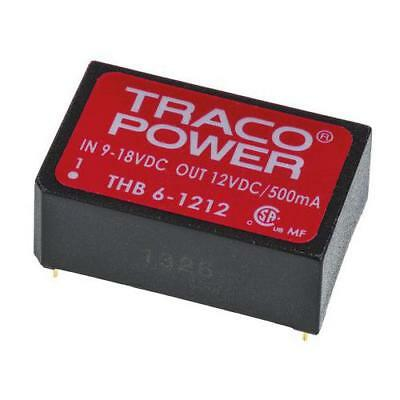 1 x TRACOPOWER Isolated DC-DC Converter THB 6-1212, Vin 9-18V dc, Vout 12V dc