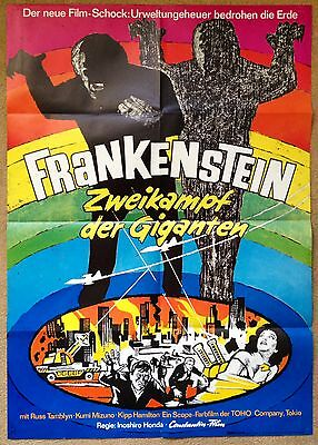 THE WAR OF THE GARGANTUAS (1966) Rare Original German Horror Movie Poster Toho