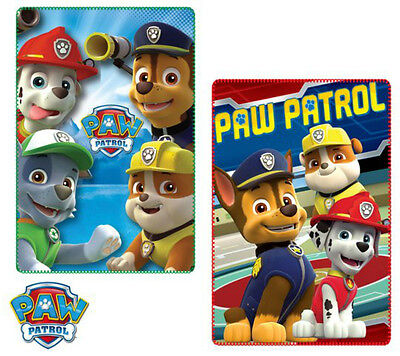 Paw Patrol Fleece Blanket Cover Chase Rubble Rocky Marshall Size 100 X 150 Boys