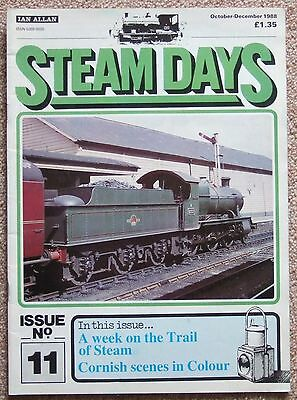 Steam Days 11 Oct to Dec 1988 - Cornwall WITHERED ARM South Wales Steam on Shed