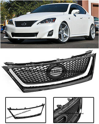 F Sport Style Front Hood Grille W/ Glossy Black Trim For 06-08 Lexus IS250 IS350