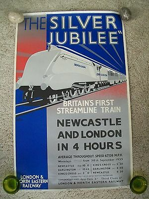 The Silver Jubilee Steam Railway Poster Vintage Plaistow Transport Museum
