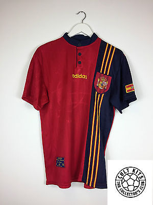 Retro SPAIN 96/98 Home Football Shirt (M) Soccer Jersey Adidas