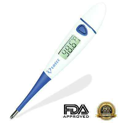 Clinical Digital Thermometer Fast Read & Monitor Fever Temperature in 15 Seconds