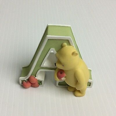 "Disney Classic Winnie the Pooh Alphabet Letter ""A"" Wall Art Michel & Co Piglet"