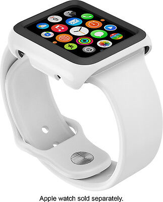 Speck - CandyShell Fit Hard Shell Case for 38mm Apple Watch- White/Black