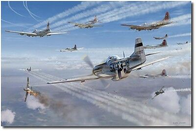 """/""""Almost Home/"""" Jim Laurier Limited Edition Print WWII 352nd Fighter Group USAAF"""