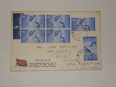 (A344) 1948 Silver Wedding F.d.c To South Australia With Seaton Hull Cds