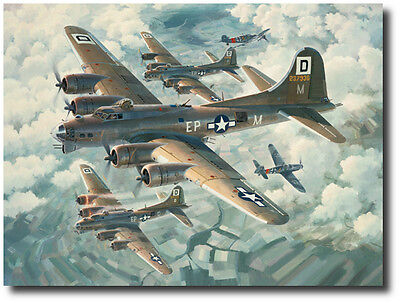 Fortresses Engaged by Keith Ferris- B-17 Flying Fortress- Aviation Art Prints