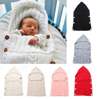 Newborn Baby Boy Girl Infant Swaddle Swaddling Cotton Blanket Sleeping Bag 0-24M