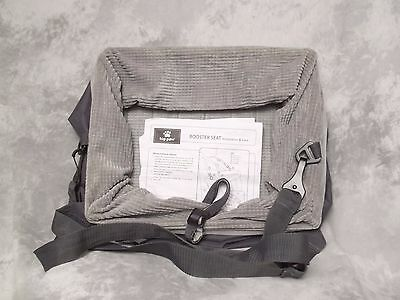 TOP PAW Dog Pet Car Seat Belt Booster Travel Seat Carrier Collapsible Gray