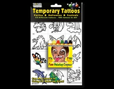 DO-IT-YOURSELF COLOR IN U-Do Temporary Tattoos Sets - w/ or w/out ...